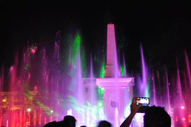 The Dancing Fountains, Plaza Salcedo, Vigan, Philippines