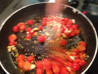 Cooking Tomatoes and Garlic