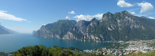 Riva & lake from Monte Brione