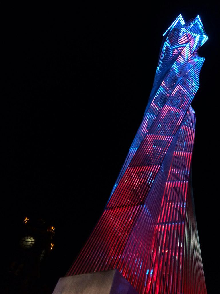 City of Calgary public art called Luminous Crossings
