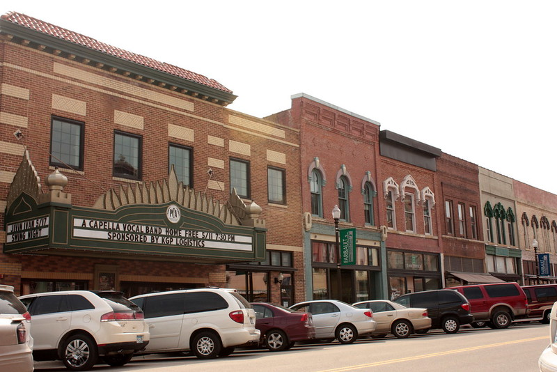 Ornate buildings in downtown Faribault