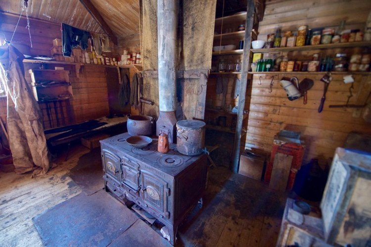 The Stove Used by Explorer Ernest Shackleton in Cape Royds, Antarctica