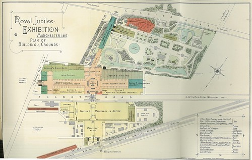 Map of the Royal Jubilee Exhibition, Old Trafford, 1887