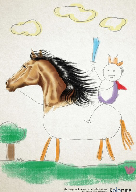 Kolor Me School - Horse