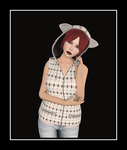 Callyscloset -  Nilly Cat Hoodie - Diamond by Tigist Sapphire