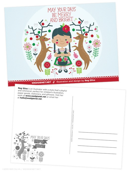Holiday postcard mailer 2013