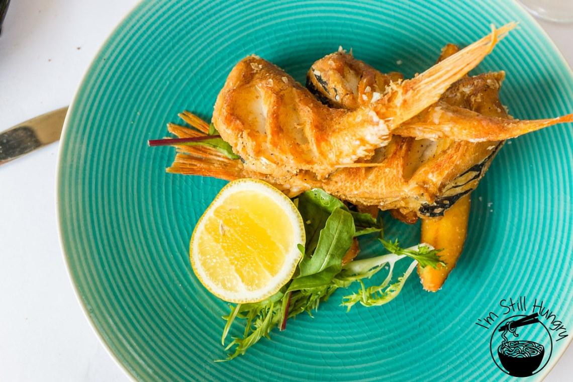 Salt & pepper rock cod w/hand cut fries flanagan's dining room