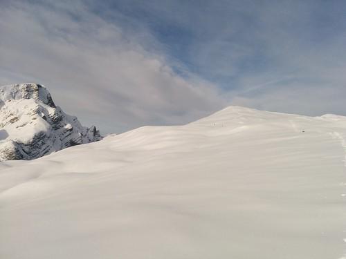 Gipfel Großer Jaufen in Sicht und Blick auf Seekofel
