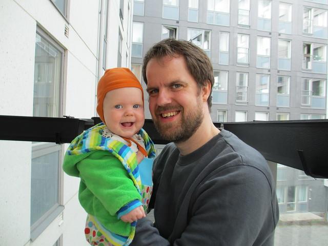 Sander och pappa