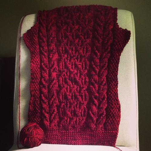 beatnik progress by knitter gal