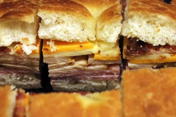 Honeybaked ham super sandwich