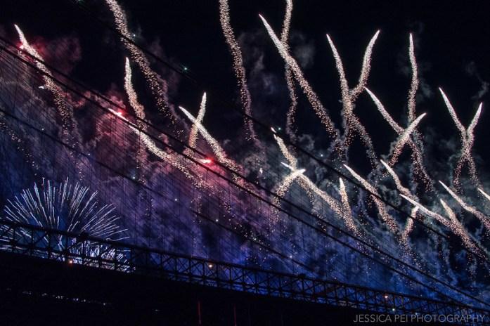 Fireworks Shooting Off Brooklyn Bridge