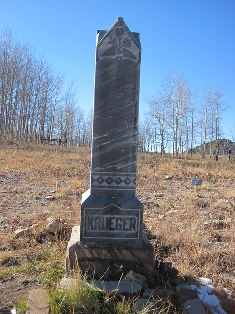 Fred E. Kreuger Headstone at the Mt. Pisgah Cemetery