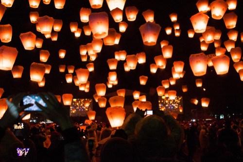 Pingxi Sky Lantern Festival 2014 in Taiwan