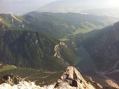 Gipfelausblick auf den Pragser Wildsee