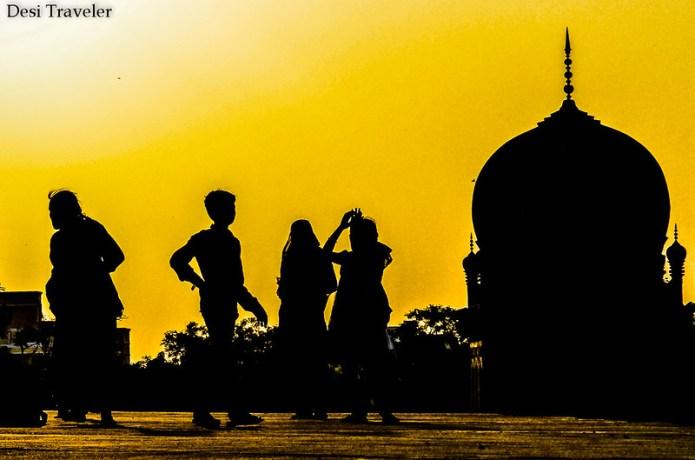 qutub shahi tombs sunset
