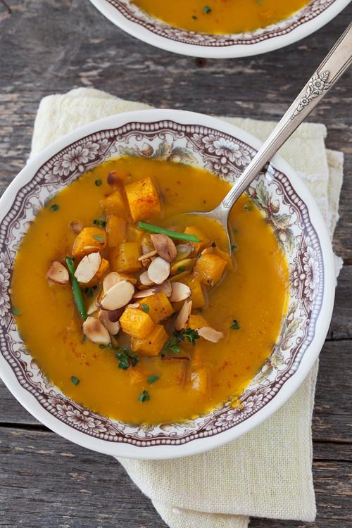 Pumpkin Soup with Almonds 3
