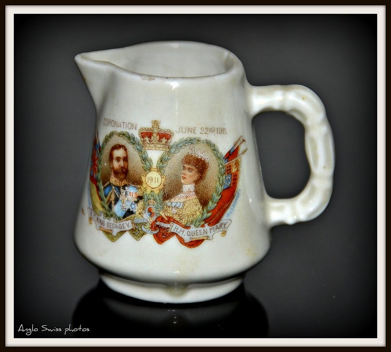 King George and Queen Mary Coronation mug