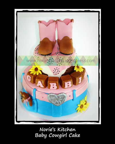 Norie's Kitchen - Baby Cowgirl Cake by Norie's Kitchen
