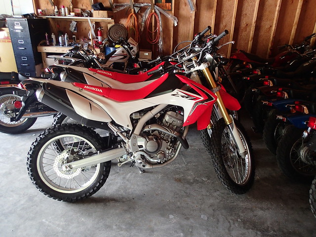 Two new training bikes ... Honda CRF230L