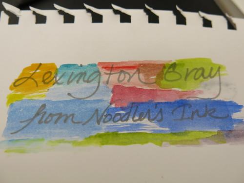 Noodler's Lexington Gray and Daniel Smith Watercolors