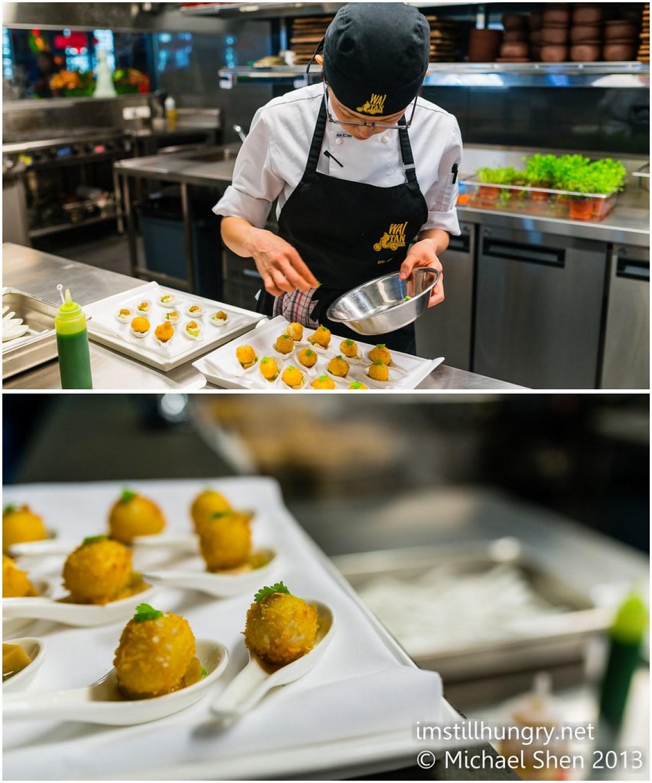 Deep-fried abalone balls w/mushroom & tofu Waitan Sydney