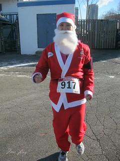 warm up jog in my Santa suit