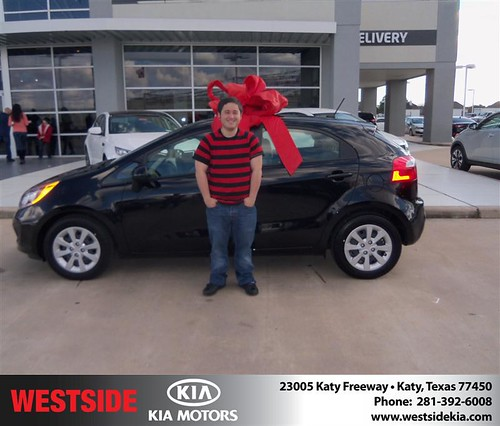 Happy Anniversary to Alex Kahn on your 2013 #Kia #Rio from Ziauddin Mohammed  and everyone at Westside Kia! #Anniversary by Westside KIA
