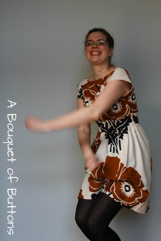 Anna dress, By hand London, curtain, gordijn, jurk, dress, blooper