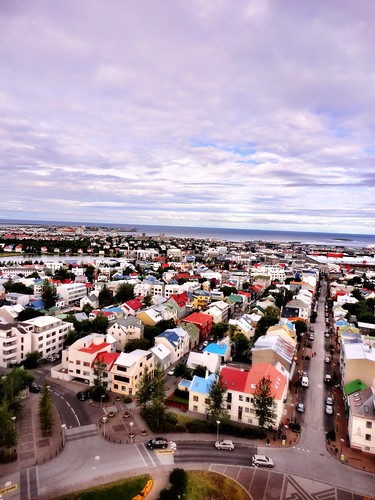 Reykjavik seen from Hallgrims Church by SpatzMe