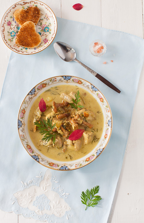 Turkey Soup with Mushrooms
