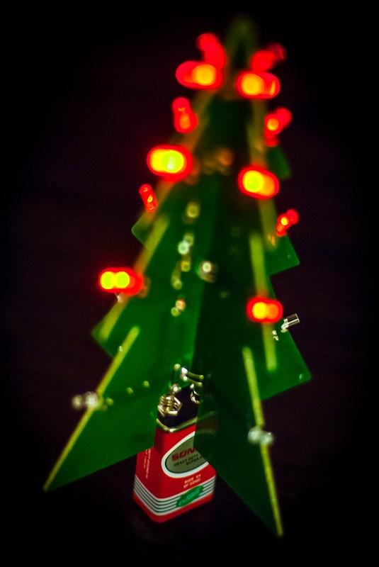 LED Kerstboom bij het kerstmenu