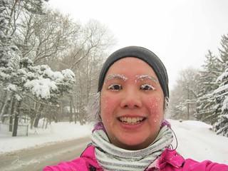 selfie - mei covered in snow