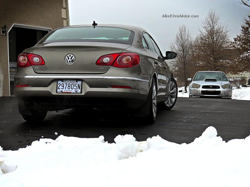 Volkswagen CC and Subaru WRX STi