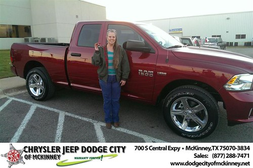 Thank you to Laurel Johnson on your new 2014 #Ram #1500 from Joe Ferguson  and everyone at Dodge City of McKinney! #NewCarSmell by Dodge City McKinney Texas