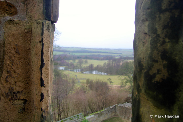 The view from Hardwick Old Hall