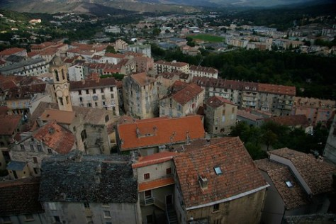 View of Corte from the Citadel, Corsica