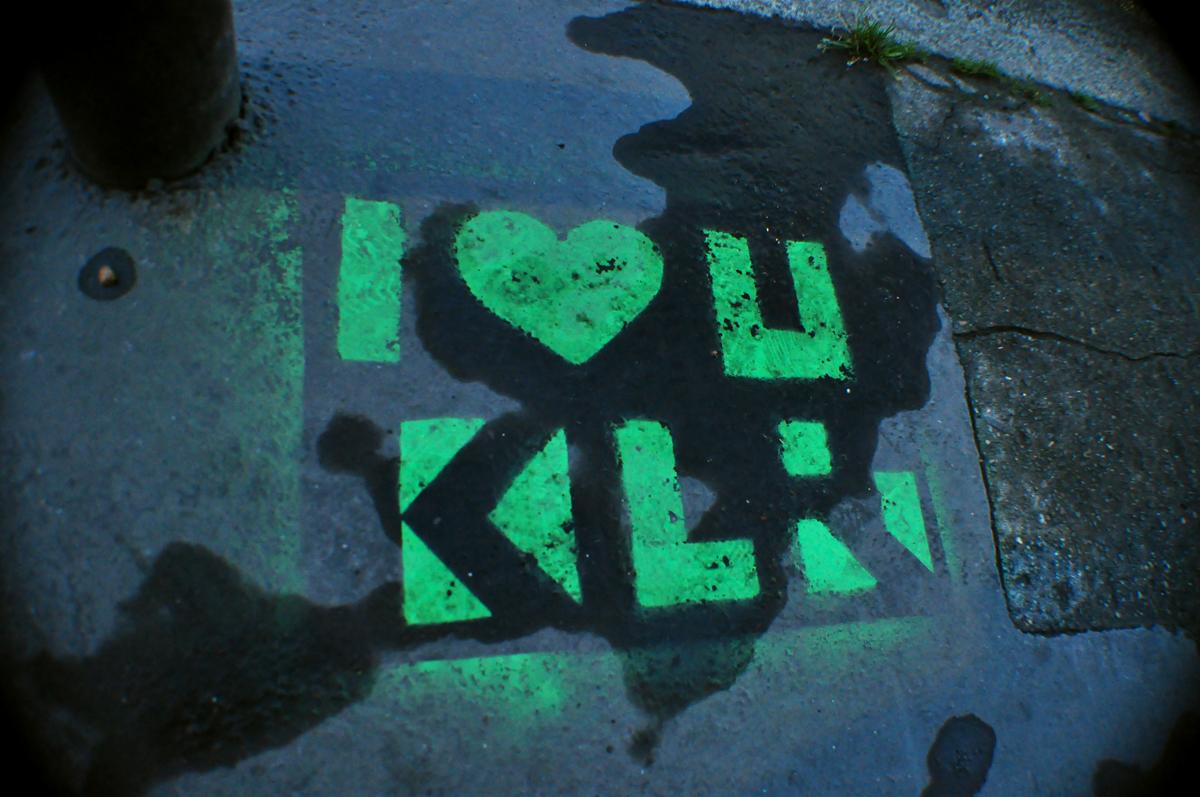 I ♥ U KLR green
