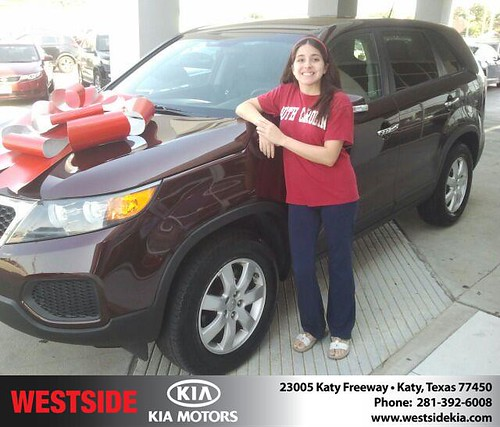 Thank you to Robert Doguim on the 2012 Kia Sorento from Gil Guzman and everyone at Westside Kia! by Westside KIA