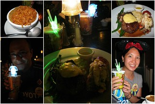 Our food and our special glowing collectors cups