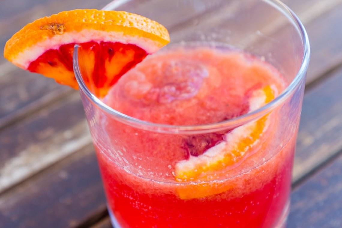 Blood orange gin & tonic Flanagan's dining room