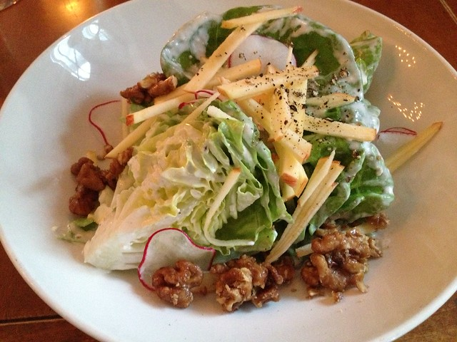 Butter lettuce and Fuji apple salad - Town Hall