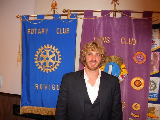 Mirco Bergamasco, rugby Rovigo, Rotary e Lions 16 ott 2013