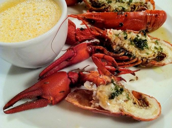 Restaurant Obere Mühle: crayfish with tarragon