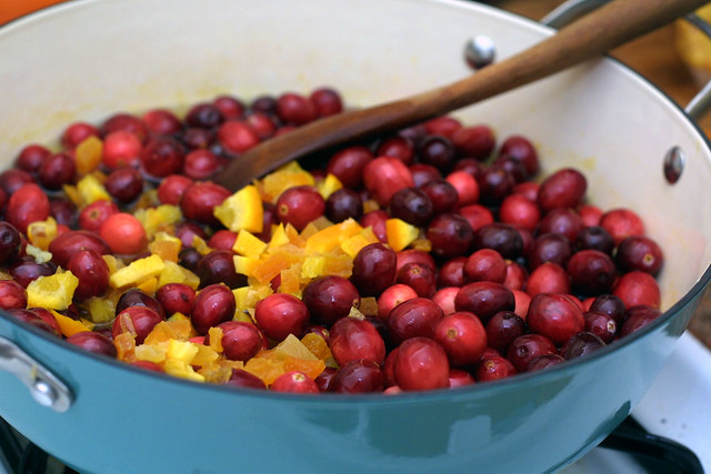 Cranberry, orange, and apricot