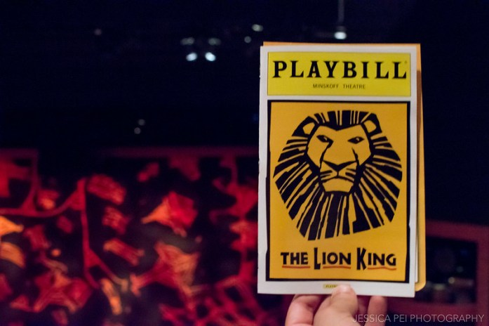 The Lion King Broadway Playbill in Minskoff Theatre New York City