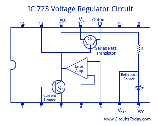 30v Power Supply Circuit Diagram Ic Applications And Hdl Simulation Lab Notes Voltage