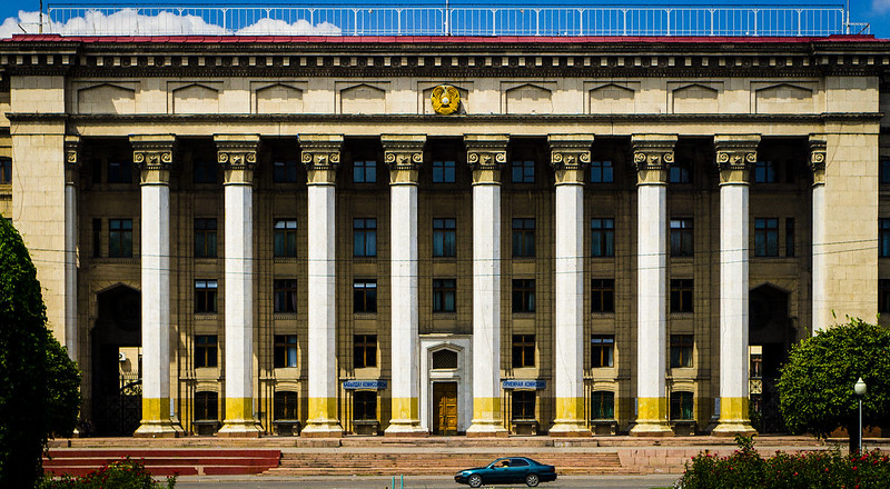 soviet order (as a reference to the columns)