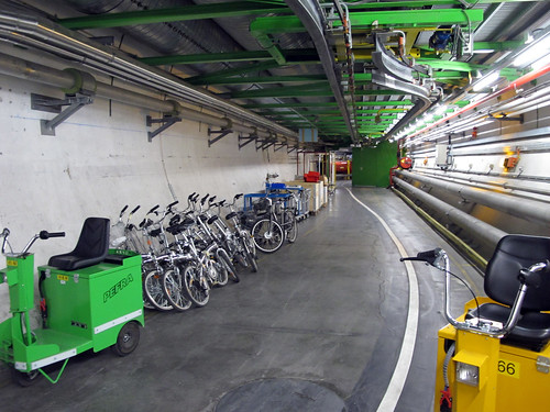 Bikes and scooters to get around the LHC spotted on my underground tour to see ALICE