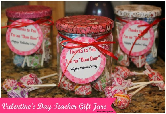 valentines day teacher gift jars